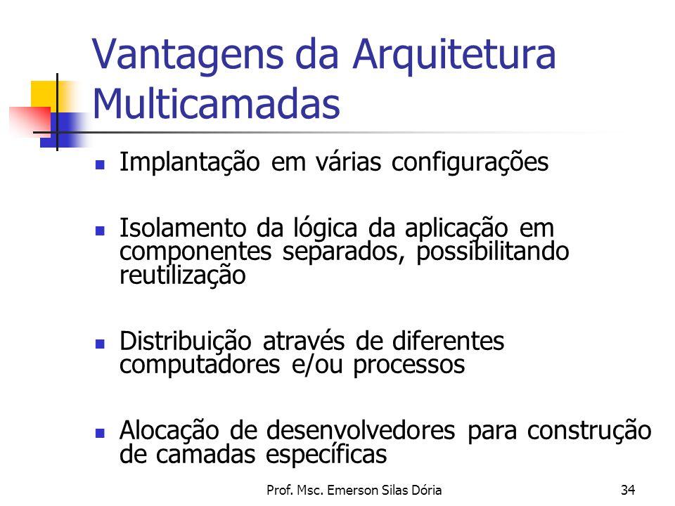 Vantagens da Arquitetura Multicamadas