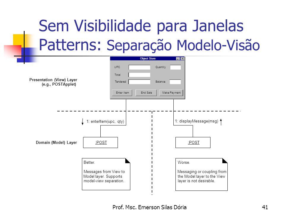 Sem Visibilidade para Janelas Patterns: Separação Modelo-Visão
