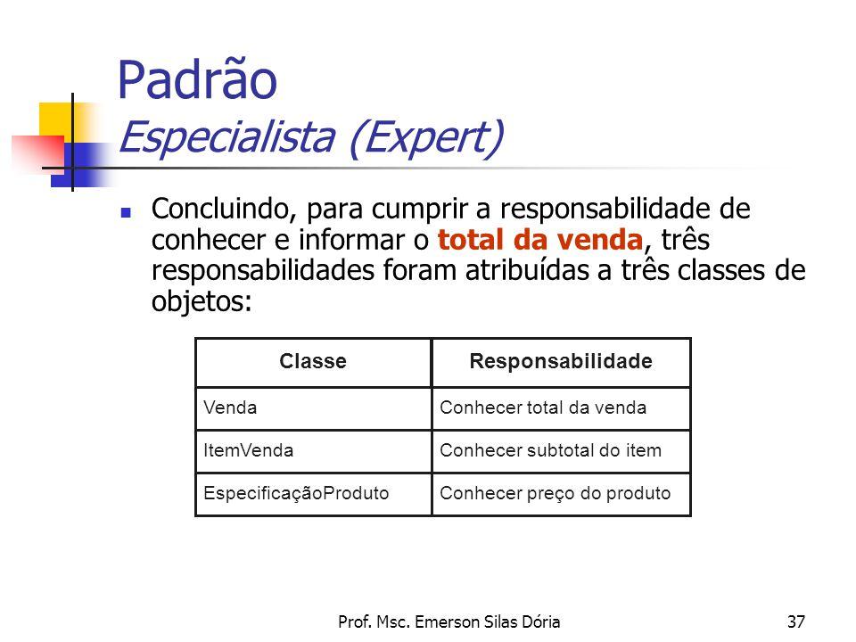 Padrão Especialista (Expert)