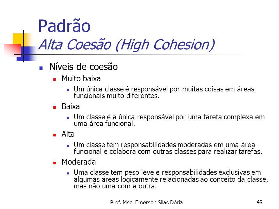 Padrão Alta Coesão (High Cohesion)