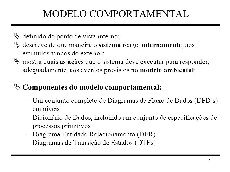 MODELO COMPORTAMENTAL