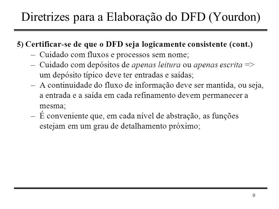 Diretrizes para a Elaboração do DFD (Yourdon)