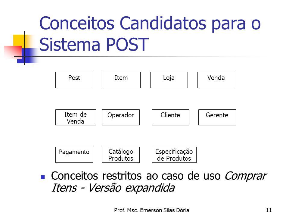 Conceitos Candidatos para o Sistema POST