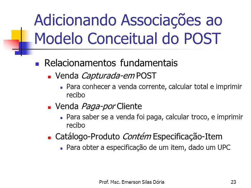 Adicionando Associações ao Modelo Conceitual do POST