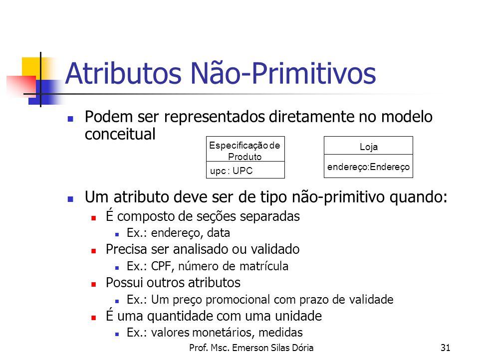Atributos Não-Primitivos