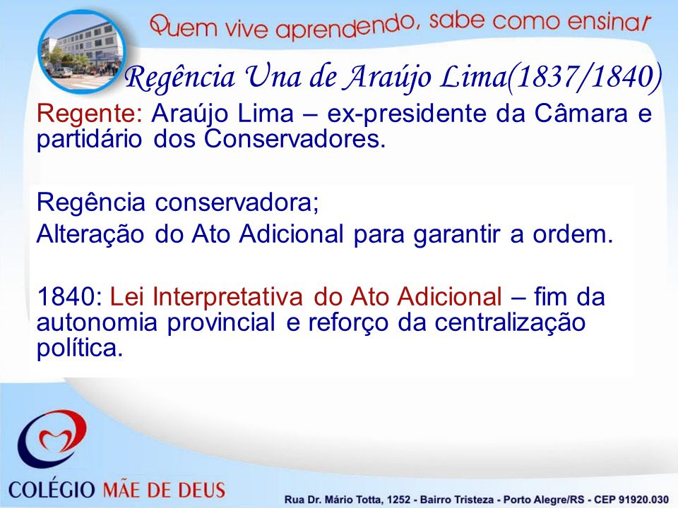Regência Una de Araújo Lima(1837/1840)