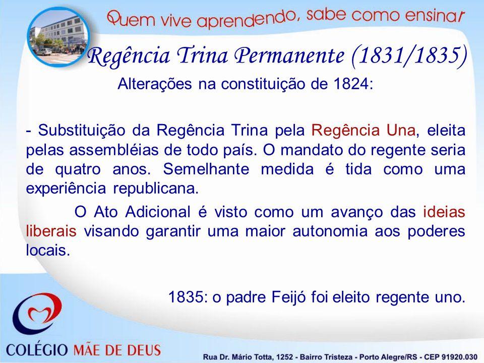Alterações na constituição de 1824:
