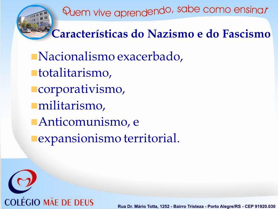 Características do Nazismo e do Fascismo