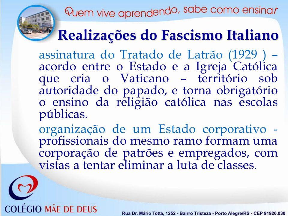 Realizações do Fascismo Italiano