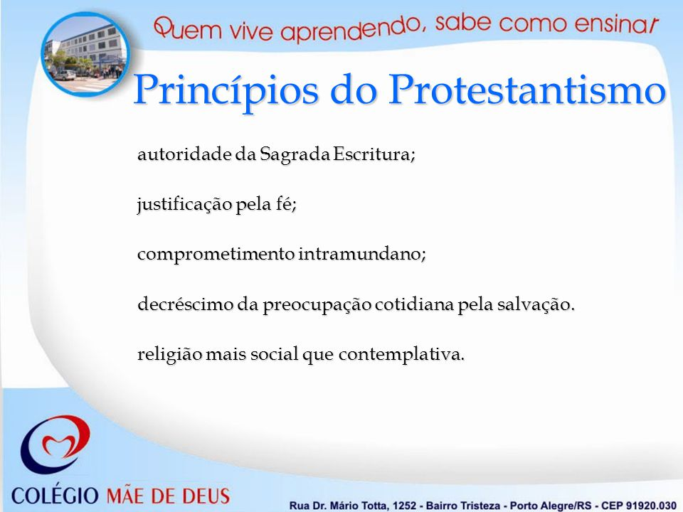 Princípios do Protestantismo