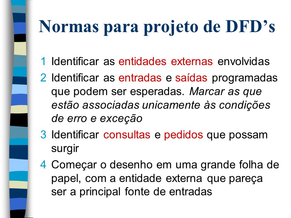 Normas para projeto de DFD's