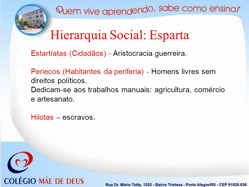 Hierarquia Social: Esparta