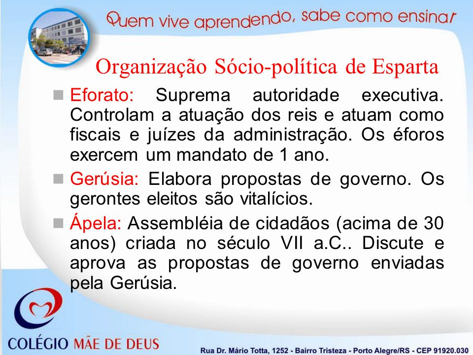 Organização Sócio-política de Esparta