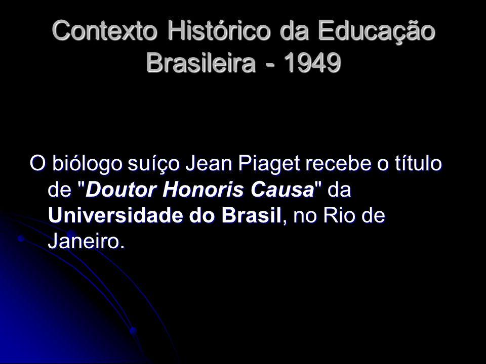 Contexto Histórico da Educação Brasileira - 1949