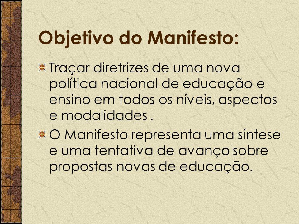 Objetivo do Manifesto: