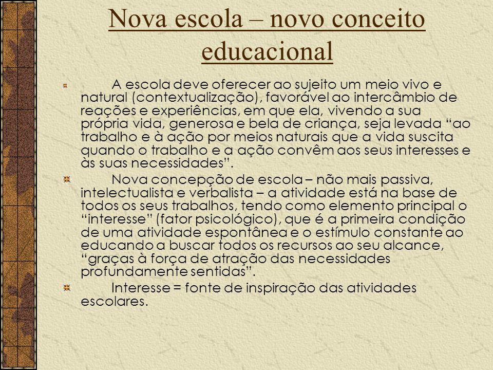 Nova escola – novo conceito educacional