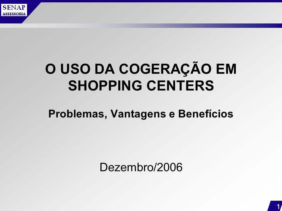 O USO DA COGERAÇÃO EM SHOPPING CENTERS Problemas, Vantagens e Benefícios