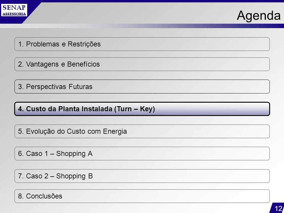 Agenda 1. Problemas e Restrições 2. Vantagens e Benefícios