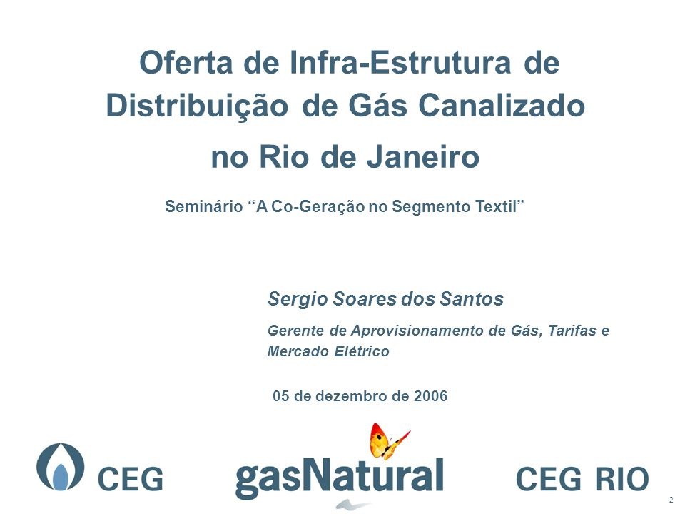 Oferta de Infra-Estrutura de Distribuição de Gás Canalizado