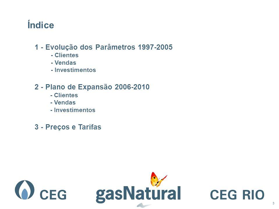 Índice 1 - Evolução dos Parâmetros 1997-2005