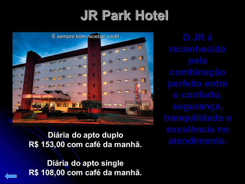 JR Park Hotel O JR é reconhecido pela combinação perfeita entre o conforto, segurança, tranquilidade e excelência no atendimento.