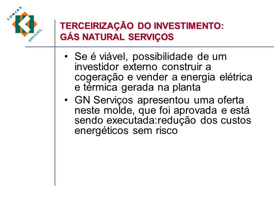 TERCEIRIZAÇÃO DO INVESTIMENTO: