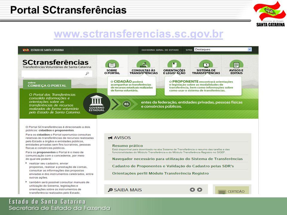 gefin Portal SCtransferências www.sctransferencias.sc.gov.br