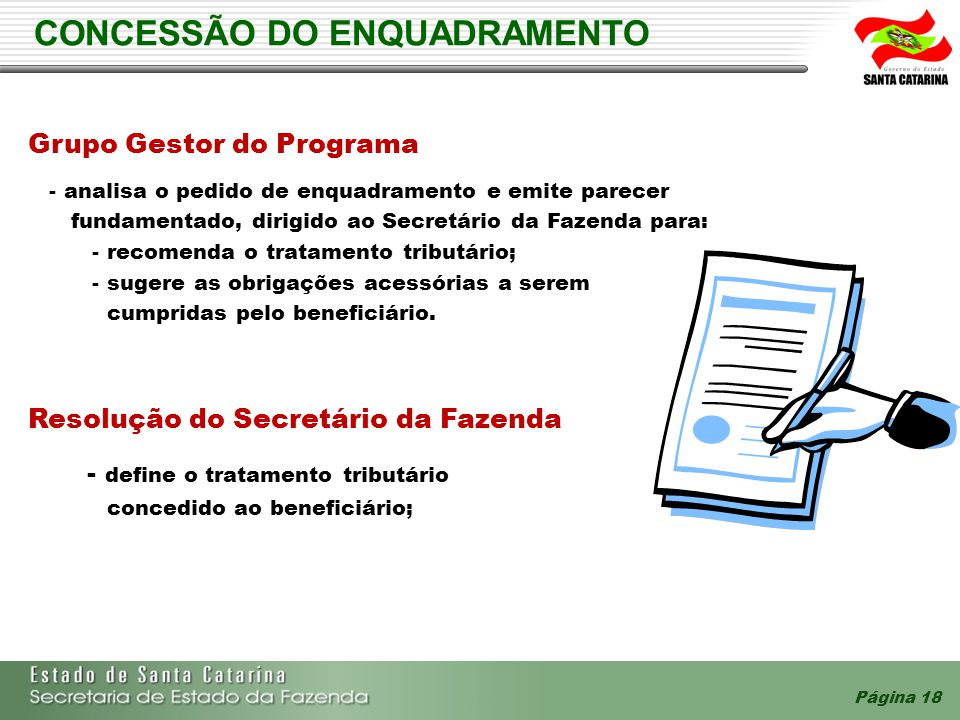 CONCESSÃO DO ENQUADRAMENTO