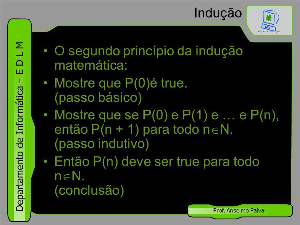 O segundo princípio da indução matemática: