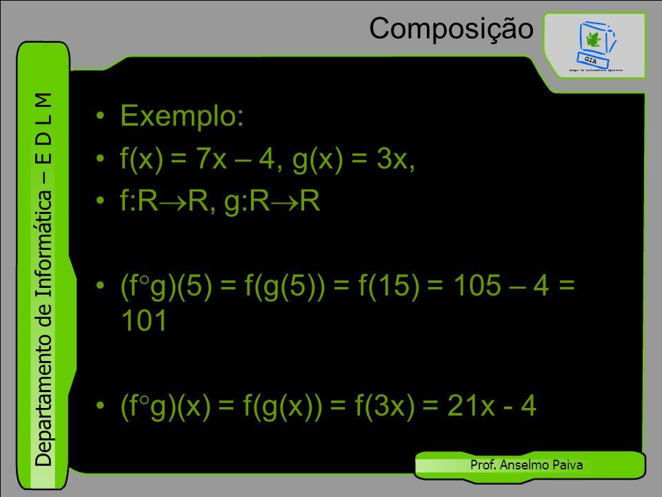 (fg)(5) = f(g(5)) = f(15) = 105 – 4 = 101