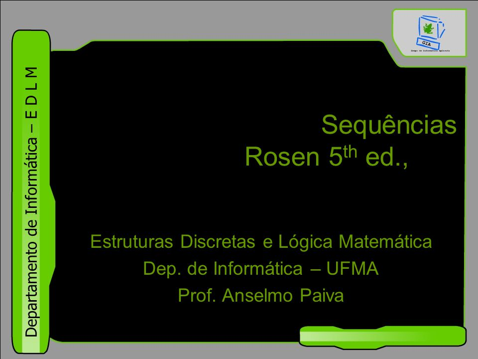 Sequências Rosen 5th ed., §1.8