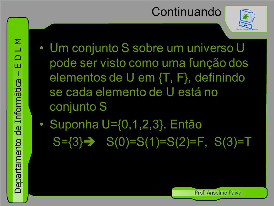 S={3} S(0)=S(1)=S(2)=F, S(3)=T