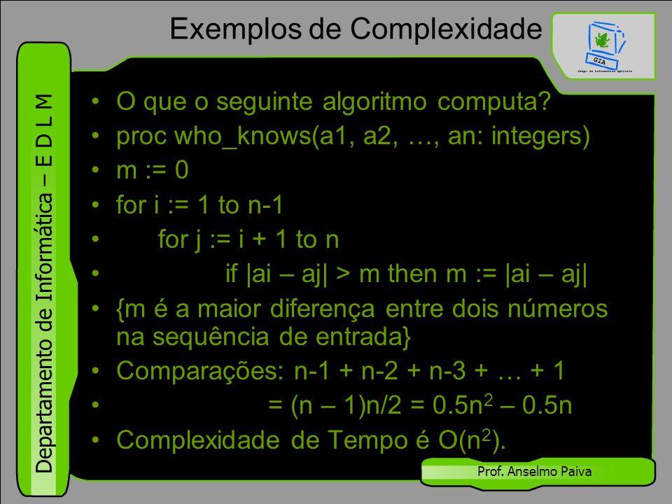 Exemplos de Complexidade