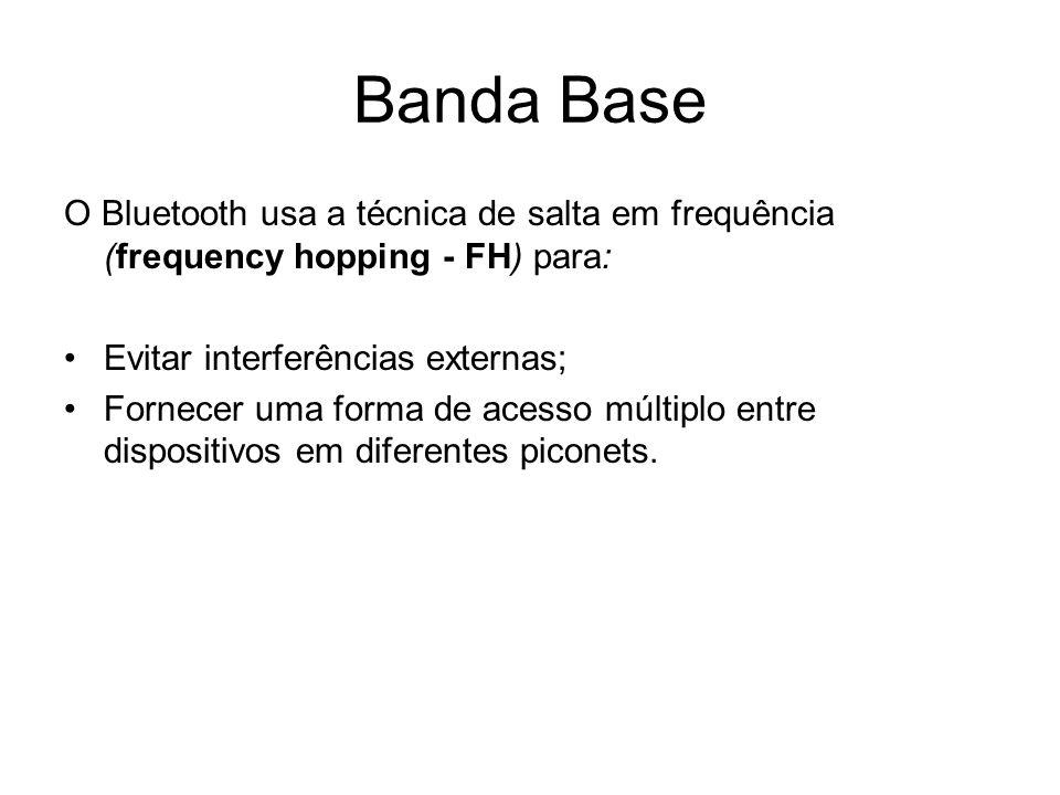 Banda Base O Bluetooth usa a técnica de salta em frequência (frequency hopping - FH) para: Evitar interferências externas;