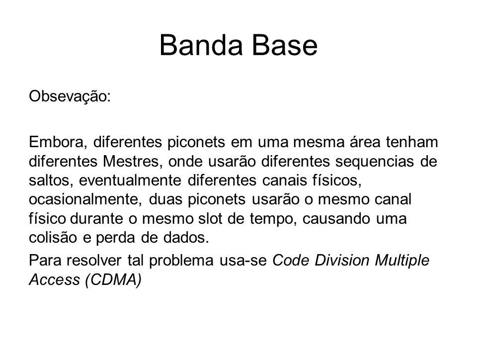 Banda Base Obsevação: