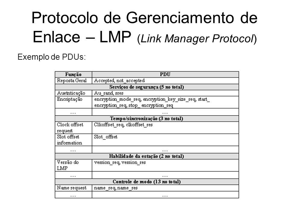 Protocolo de Gerenciamento de Enlace – LMP (Link Manager Protocol)