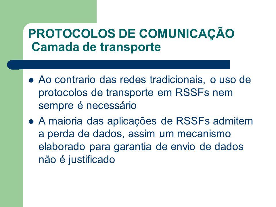 PROTOCOLOS DE COMUNICAÇÃO Camada de transporte