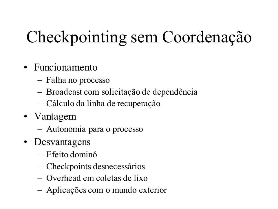 Checkpointing sem Coordenação