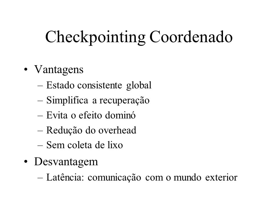 Checkpointing Coordenado