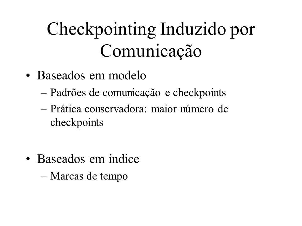 Checkpointing Induzido por Comunicação