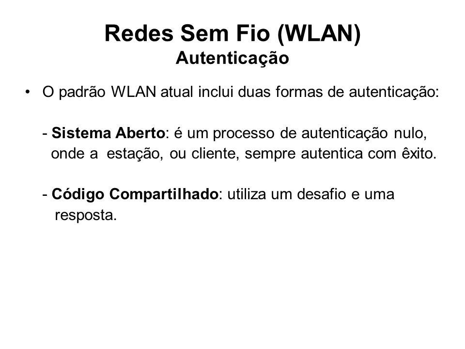 Redes Sem Fio (WLAN) Autenticação