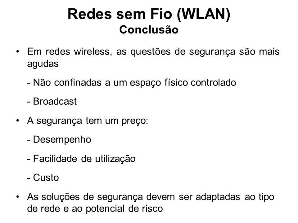Redes sem Fio (WLAN) Conclusão