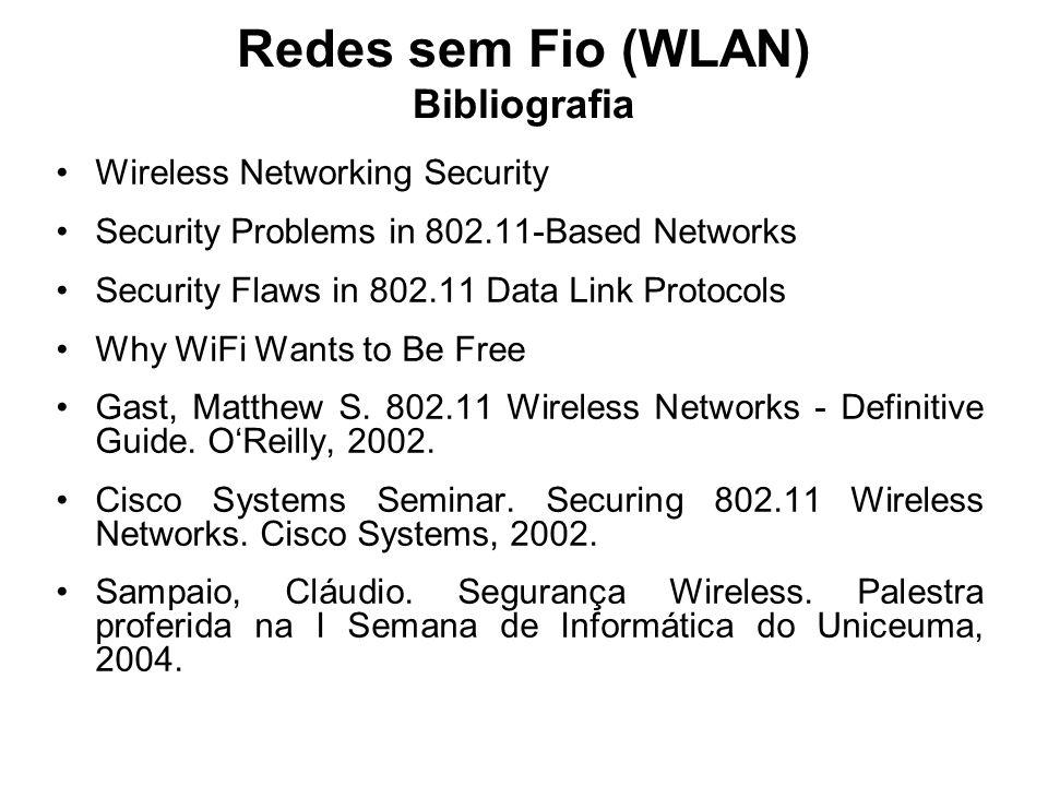 Redes sem Fio (WLAN) Bibliografia