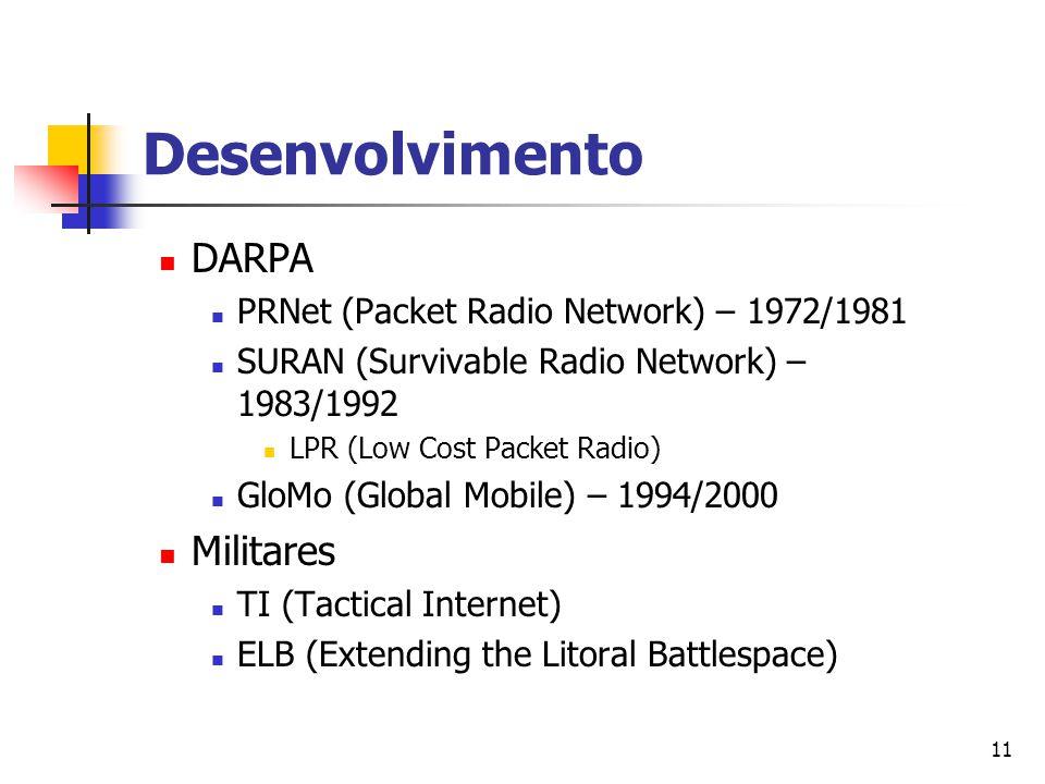 Desenvolvimento DARPA Militares