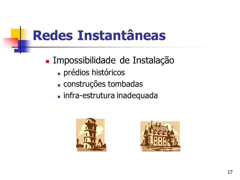 Redes Instantâneas Impossibilidade de Instalação prédios históricos