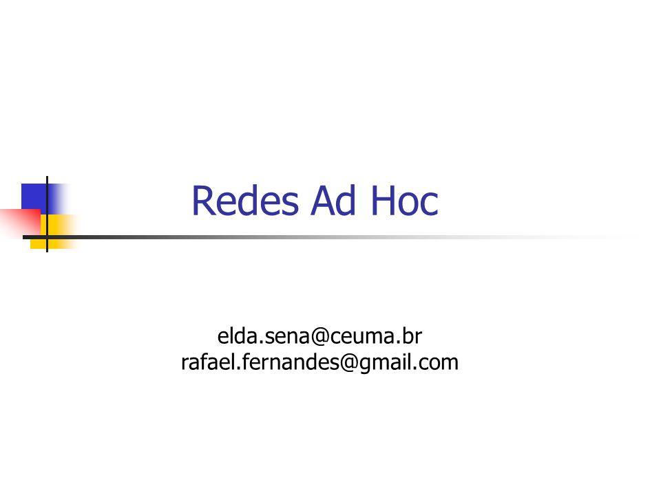 Redes Ad Hoc elda.sena@ceuma.br rafael.fernandes@gmail.com