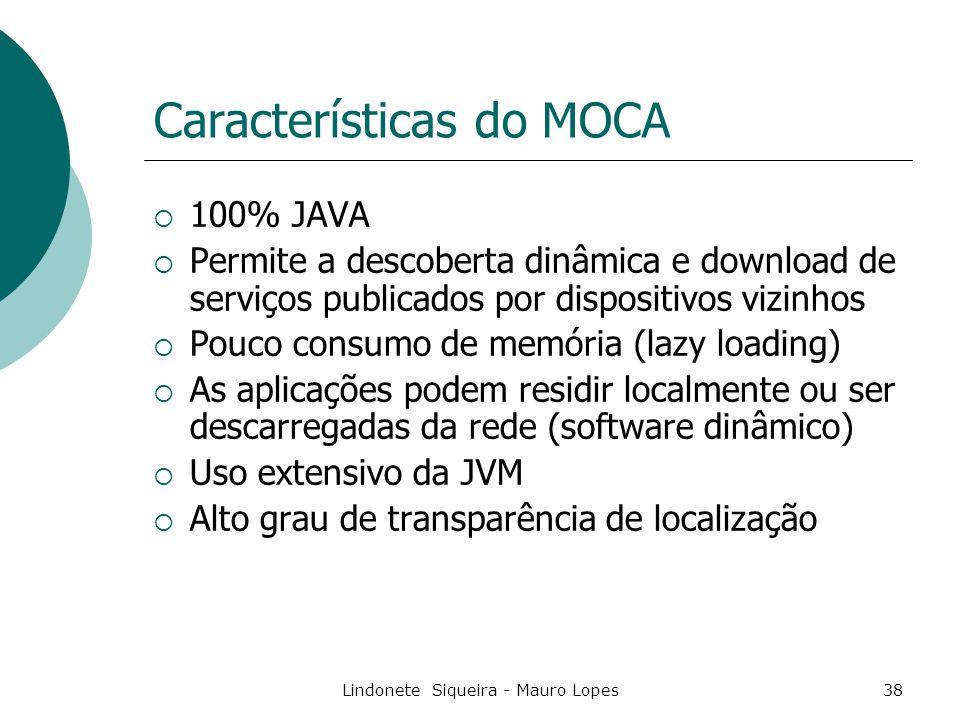 Características do MOCA