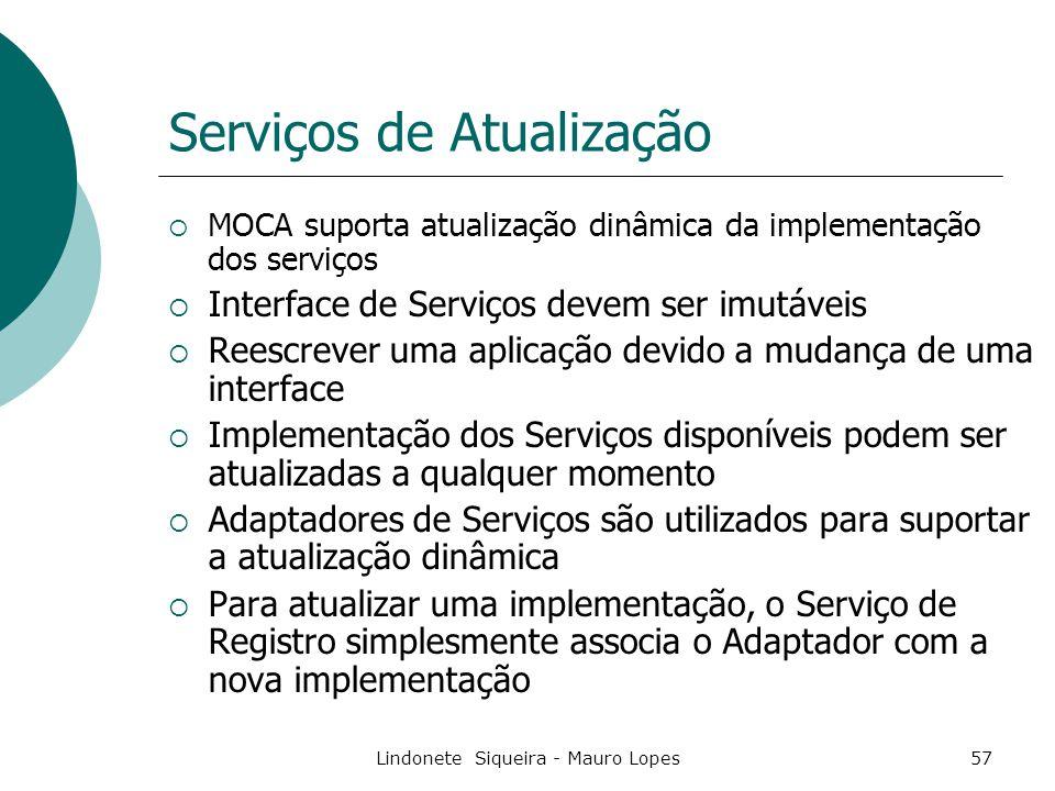 Serviços de Atualização