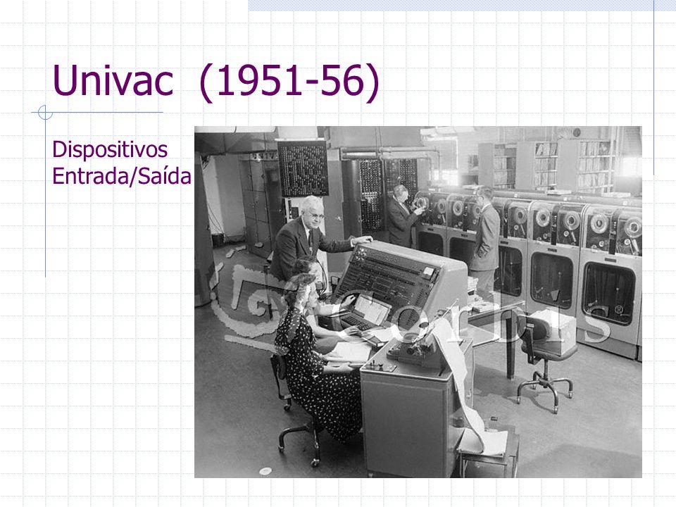 Univac (1951-56) Dispositivos Entrada/Saída