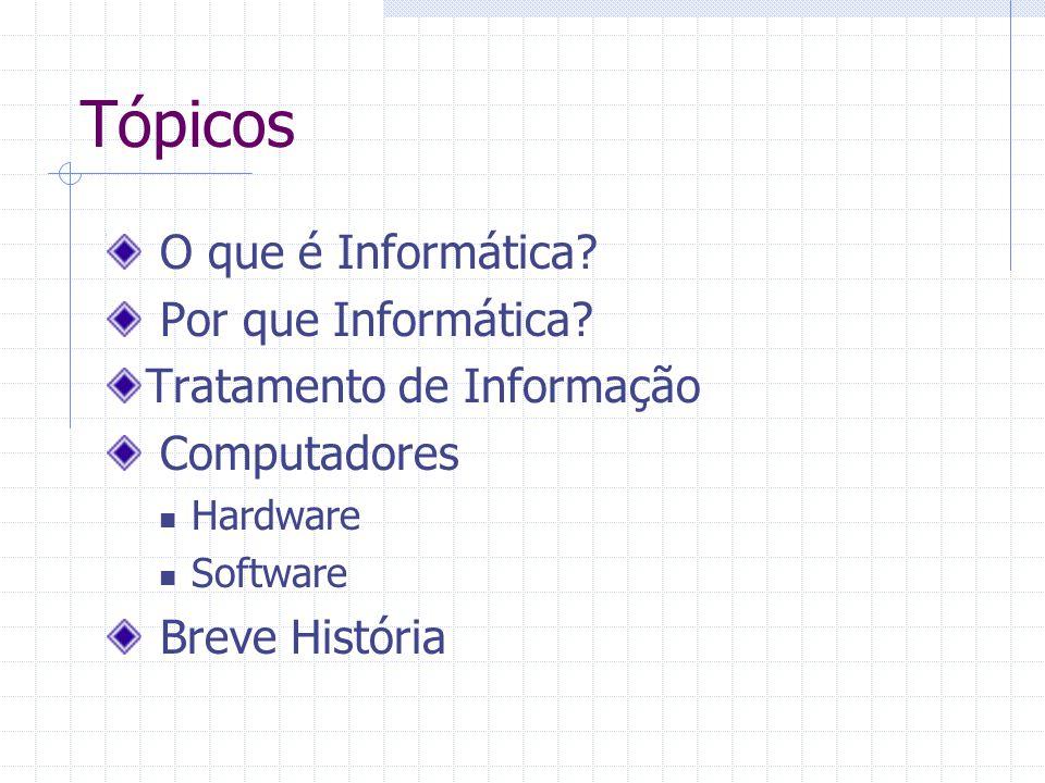 Tópicos O que é Informática Por que Informática